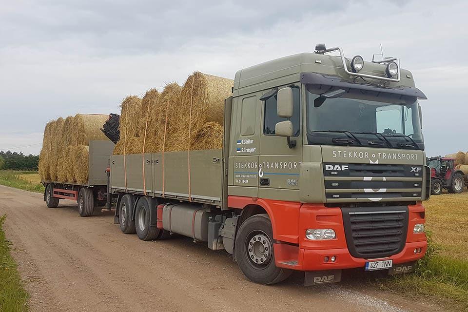 Tõstetööd ja transport kraanaautodega. Suurim kraanaautode valik Lõuna-Eestis. Stekkor Transport OÜ.
